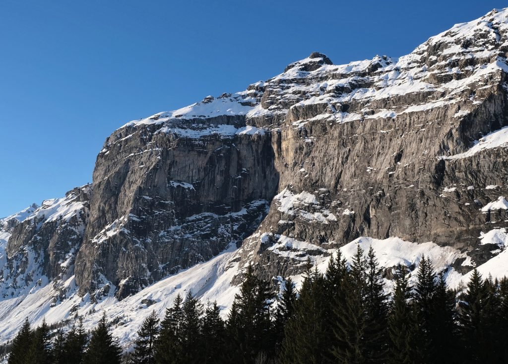 A snowy mountain in the French Alps