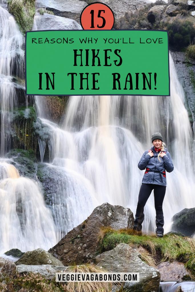 Hike in the rain pin