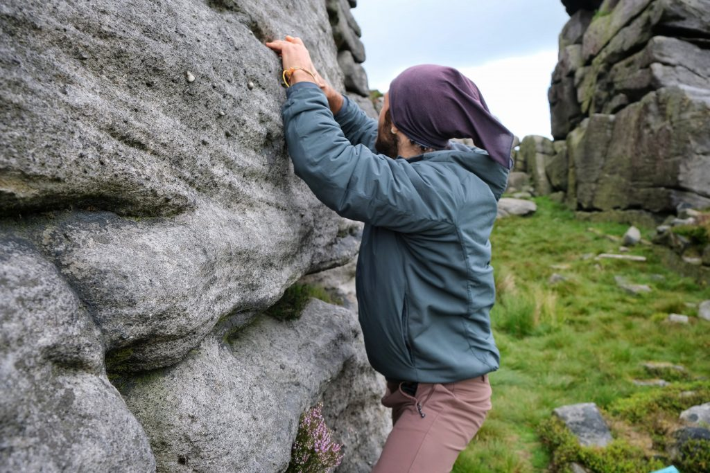 Climbing insulated jacket