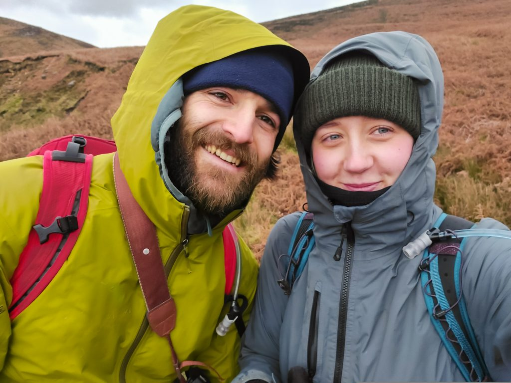 Couple hiking in the UK
