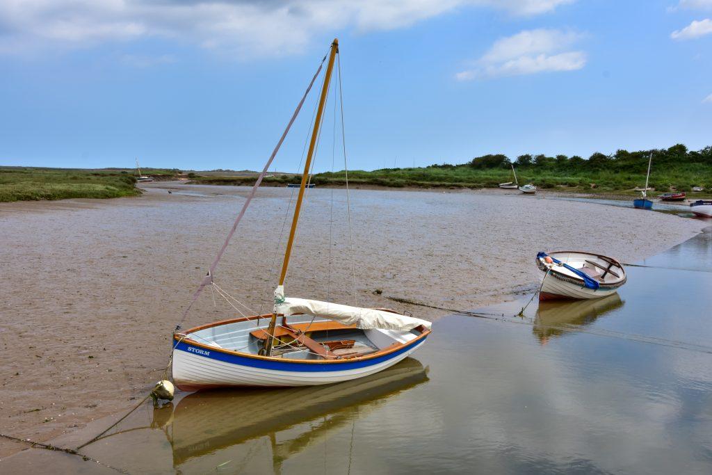 Small fishing boat on the UK coastline