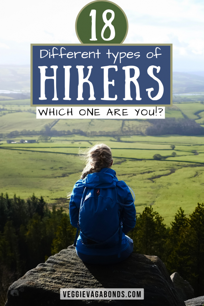 Different types of hikers pin