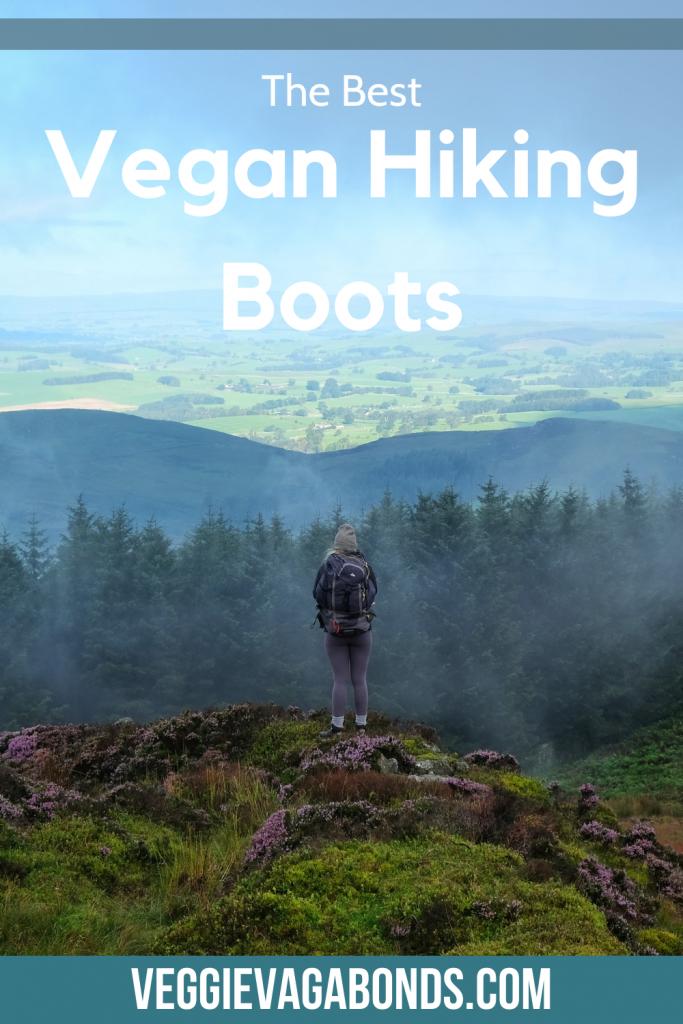Vegan hiking boots pin