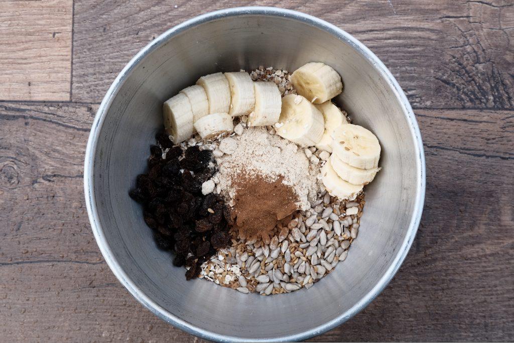 Vegan protein porridge camping