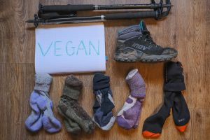 Vegan hiking socks pin