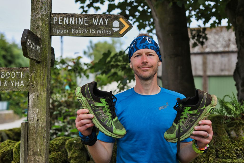 Damien Hall and Inov8 Terra Ultra shoes