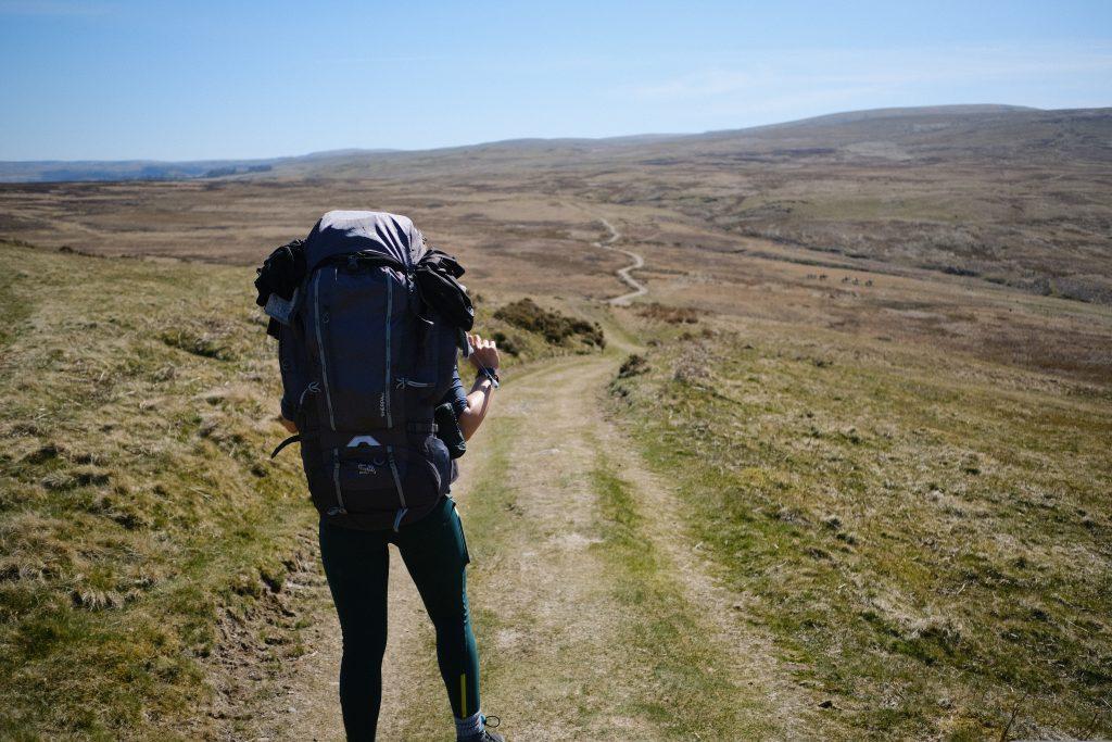 girl on UK hiking trail