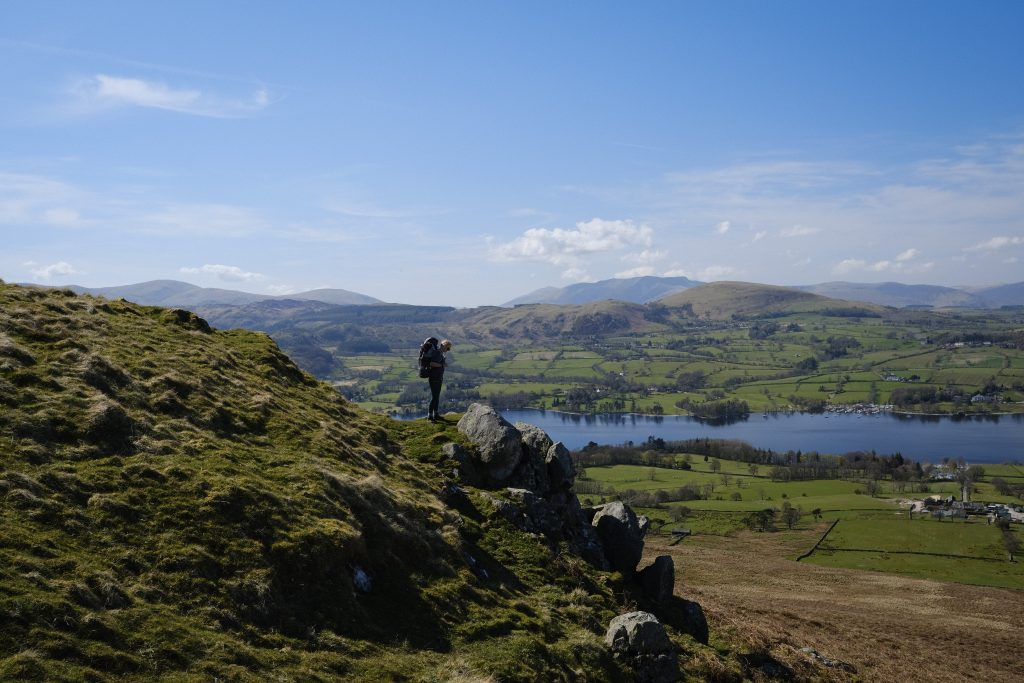 Hiking in the lake district national park
