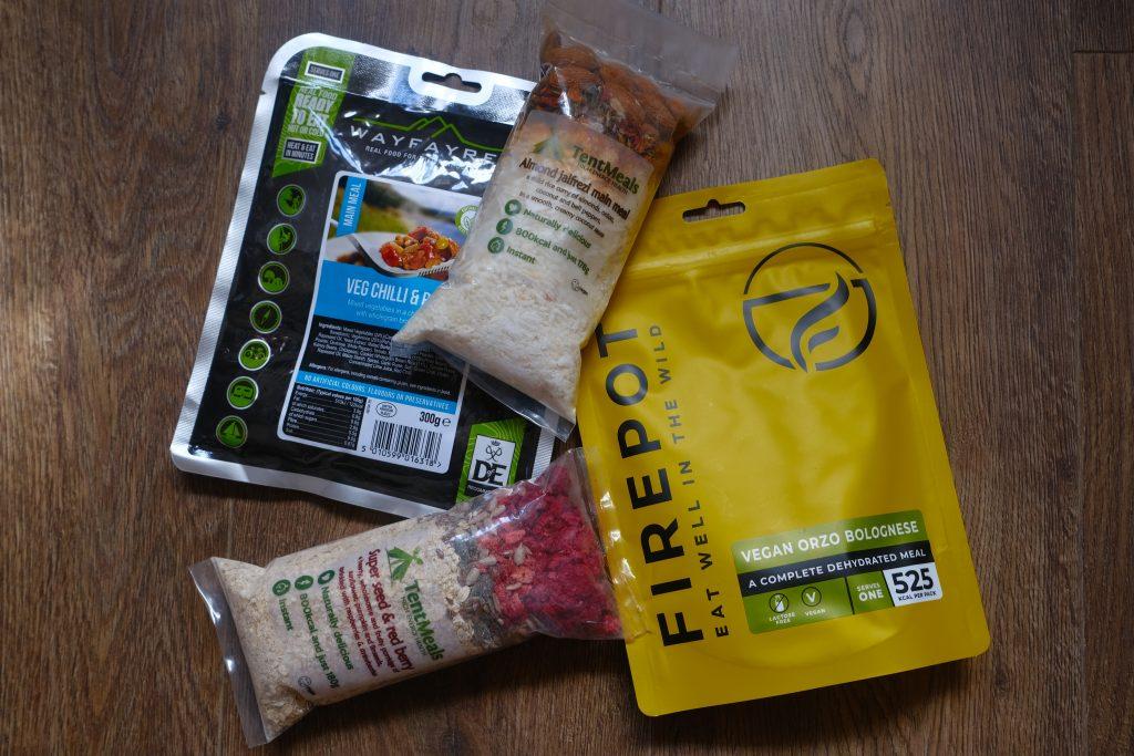 vegan dehydrated backpacking food