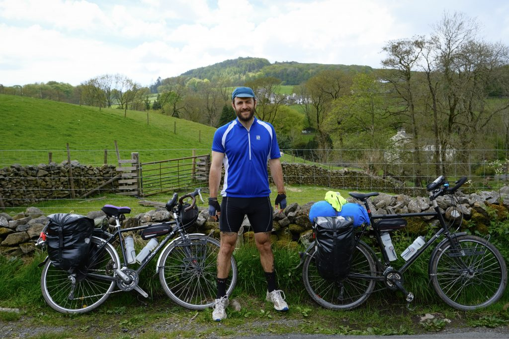 Man cycling in the UK