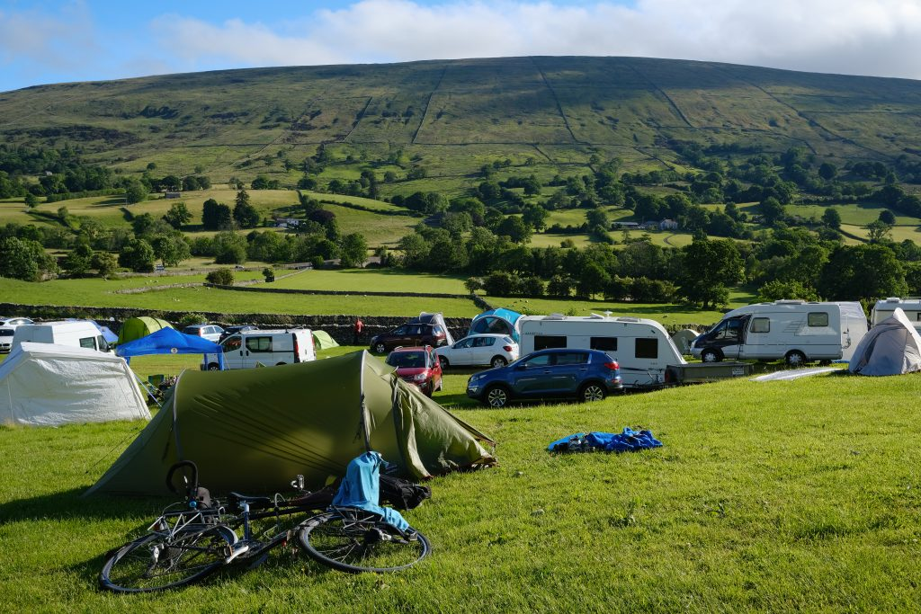 Campsite in the Yorkshire Dales