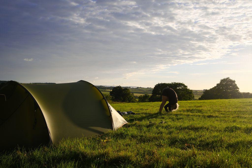Girl Wild camping