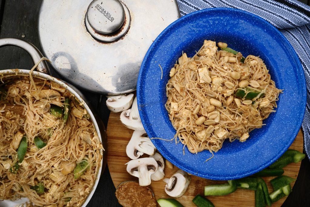 peanut camp stove noodles