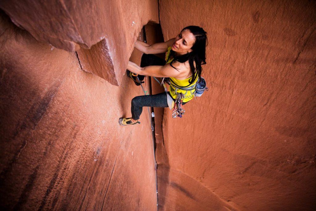 vegan rock climber