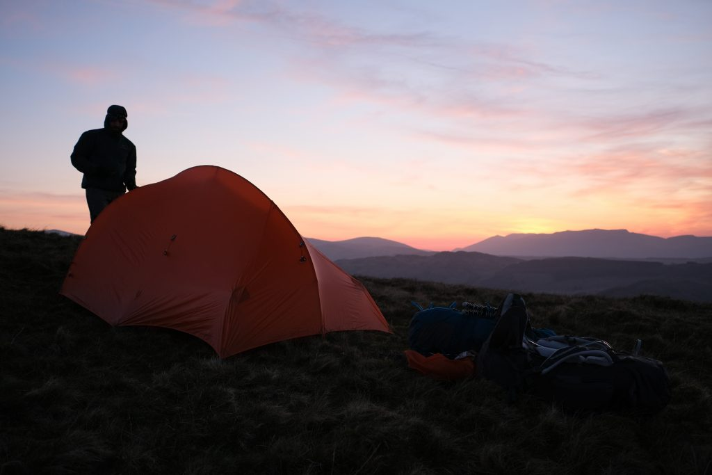 Man using b corporation tent