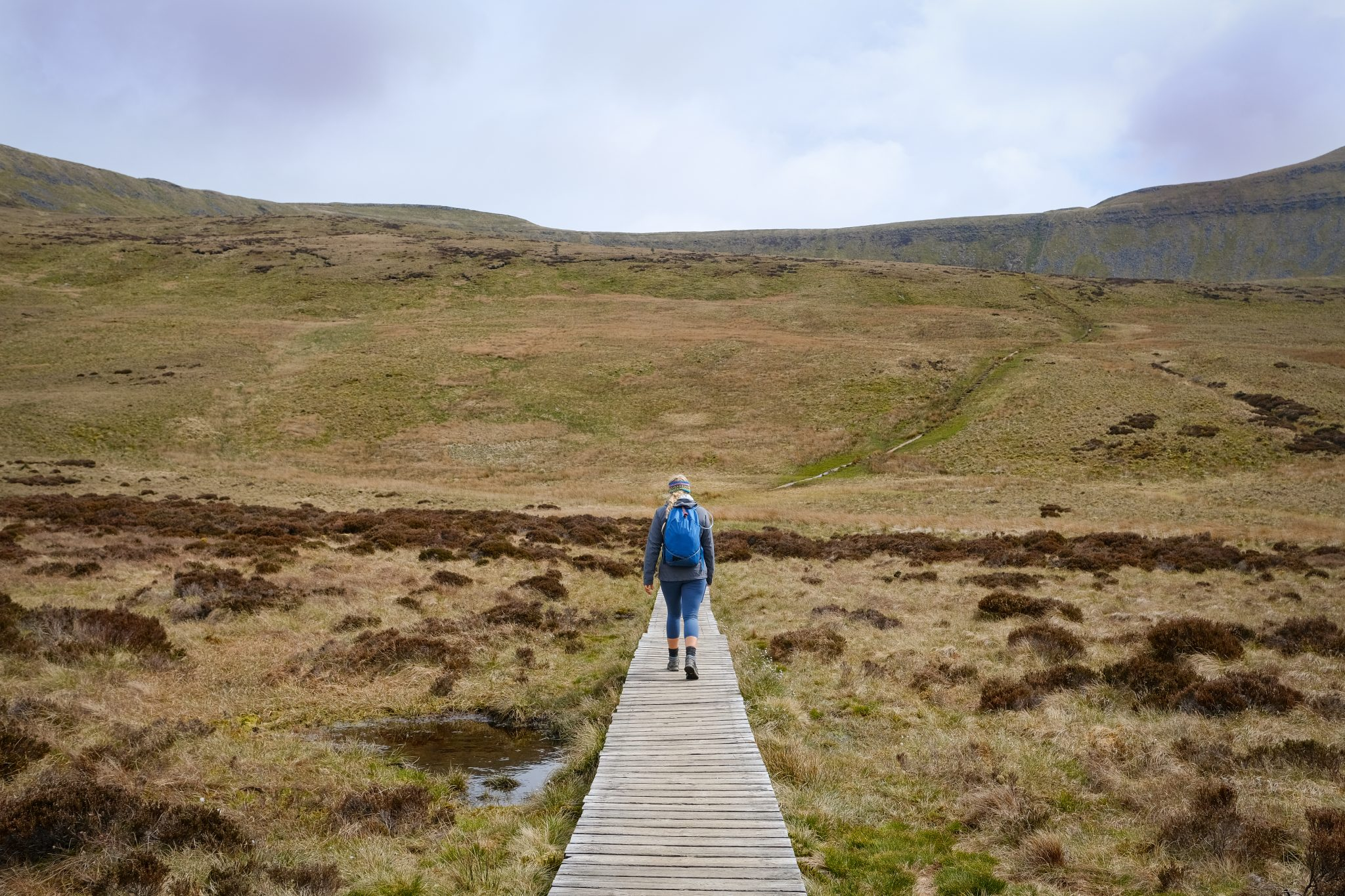 Girl hiking in the Yorkshire Dales